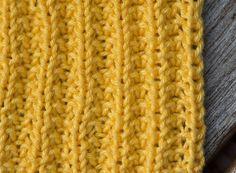 Strikket gul klut, oppskrift nr. 4 | Tove Fevangs blog