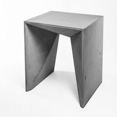 modern concrete, concrete furniture,HOCKER HEINRICH