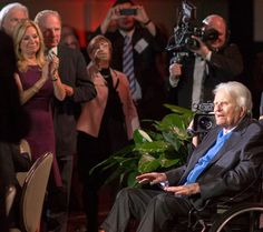 Billy Grahams 95th birthday celebration. Kathie Lee Gifford and her husband Frank on the left are long-time friends with family