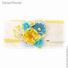 Купить Подарочный конверт Morning Star - Yellow - tanya flower, конверт, конверты, Конверт для денег