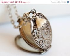 ON SALE Locket Silver Locket Jewelry  Four Photo by emmagemshop, $19.79