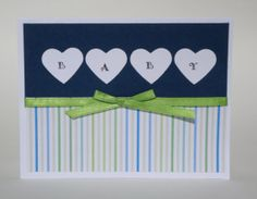 Baby Boy Card  Shower Card  Blank Inside by AllOverCreations, $2.95