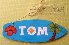 Petit POA - Eventos & Lembrancinhas Personalizadas: Filho de Surfista, surfistinha será!!!Plaquinha de maternidade - prancha em MDF pintado pela nossa artista dos pincéis Lisi Pires
