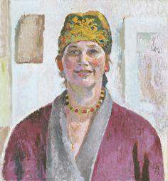 Cuno Amiet (Soleure, 1868 - Oschwand, 1961) Portrait d'Anna Amiet, 1923 Huile sur toile, 60 x 55 cm
