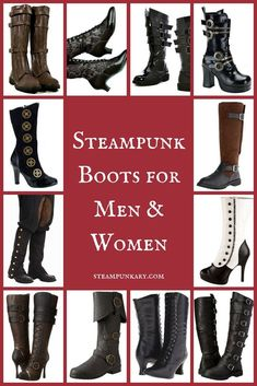 8fa8fc5d0eb9 27 Best Steampunk Boots Mens images