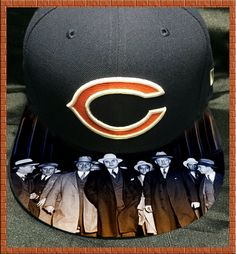 Chicago Bears Authentic New Era Fitted Cap with Custom Bill by UrbanScholarApparel on Etsy