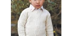 Child's cable jumper to knit