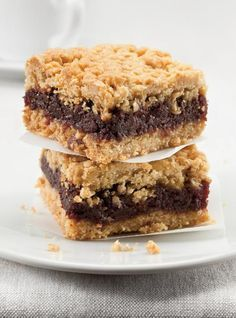 Date Bars - Omit the sugar from the date filling & add a pinch of salt