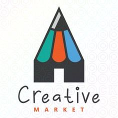 Creative+Market+logo Make Your Own Logo, Premium Logo, Logo Maker, Social Media Design, Logo Templates, Business Cards, Marketing, Logos, Creative