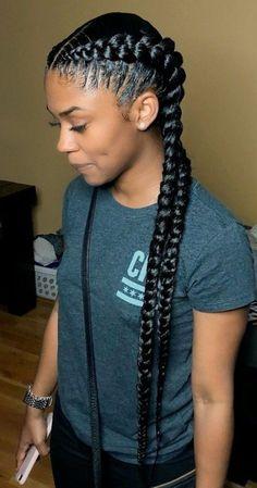 African Braids Hairstyles 590253094894654301 - 37 Ghana Braids Styles – A Must-See For Trendy Ladies Source by gabrielsuigeneris Two Braid Hairstyles, Black Girl Braided Hairstyles, Frontal Hairstyles, Black Girl Braids, African Braids Hairstyles, Braids For Black Hair, Long Bob Hairstyles, Girls Braids, Two Cornrow Braids