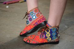 shoes inspired from banjara craft ..reviving indian crafts... craft cluster