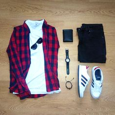 Red & Black outfit grid - #outfitgrid