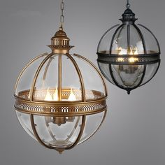 vintage loft globe pendant light wrought iron glass shade pendant lamp kitchen light hanging ceiling lamp