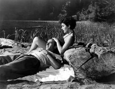 Elizabeth Taylor and Montgomery Clift in A Place in the Sun directed by George Stevens, 1951