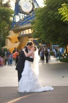 #Disneybride #romantic at #downtowndisney.  Photo courtesy of Lifetime Images Wedding Photography ( LifetimeImages.com)  Copyright 2014