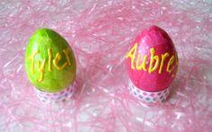 easter {pattern} tissue paper eggs