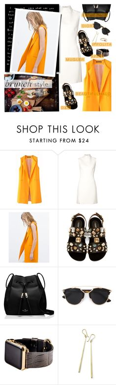 """""""E G G"""" by lilith1521 ❤ liked on Polyvore featuring Thierry Mugler, Zara, Dolce&Gabbana, Kate Spade, Christian Dior, Hadoro and Ippolita"""