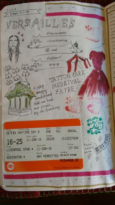 An example of one of my 'scrapbook style's pages.