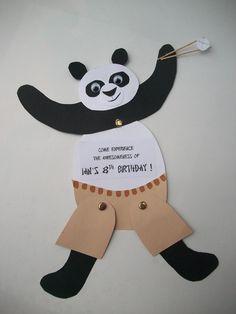 Kung Fu Panda Party Invitation