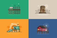 Summer Seaside Backgrounds. Vol.3 by krugli on @creativemarket