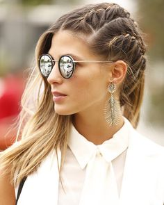 Effortless Side Braid - 30 Elegant French Braid Hairstyles - The Trending Hairstyle French Braid Hairstyles, Pretty Hairstyles, French Braids, Updo Hairstyle, Types Of Braids, How To Make Hair, Great Hair, Hair Day, Hair Trends