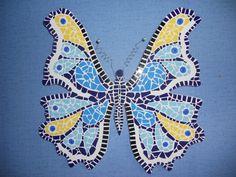 Mozaïek vlinder. Deze vlinder was een cadeau. gemaakt door Ceciel de Vries.