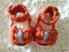 Ravelry: Puff Bow Sandals pattern by Nicole Harmon
