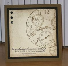 Sense of Time stamp set -- Retro Time by Christy S. - Cards and Paper Crafts at Splitcoaststampers