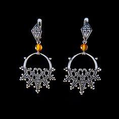 "Medieval earrings - Pagan earrings - Sterling Silver earrings - ""Birds"". Replica Slavic earrings"