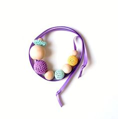 SALENursing Necklace/Teething NecklaceMauve by Simplyacircle, $16.00