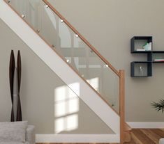 Details about Glass Staircase Balustrade Kit - Glass Stair Parts & Oak Handrails Glass Staircase Balustrade Kit - Glass Stair Parts & Oak Handrails in Home, Furniture & DIY, DIY Materials, Stairs Oak Handrail, Staircase Railings, Banisters, Staircase Design, Staircase Ideas, Wood Railing, Staircases, Stair Bannister Ideas, Modern Stairs Design