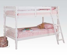 2301 Homestead Twin/Twin Bunk Bed White Finish