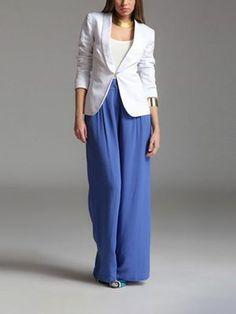 pantalon flare taille haute pantalons pinterest pantalons palazzo dame et pantalons. Black Bedroom Furniture Sets. Home Design Ideas