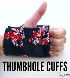 Thumbhole Cuff Tutorial by Hey June Handmade