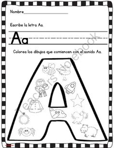 Spanish Homework: 007: TAREA Tarjetas de Sonidos Iniciales