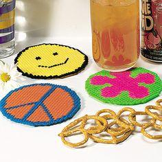 Groovy Coasters Plastic Canvas Patterns ePattern - Leisure Arts