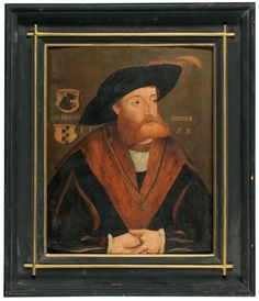 Austrian School, first half of the 16th Century Portrait of Hans Breuner, with two coat of arms Coat Of Arms, 16th Century, Portrait, School, Painting, Art, Art Background, Headshot Photography, Family Crest