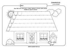 Domček - grafomotorika - pracovné listy pre deti Circus Activities, Writing Activities, Preschool Worksheets, Preschool Activities, Kindergarten, Pre Writing, Colouring Pages, Fine Motor, Art School