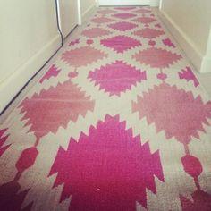 Hallway Runner. #westelm #pink #homesweethome