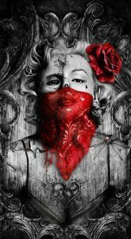 Red bandana Marilyn by ThrashinInd on Etsy Marilyn Monroe Wallpaper, Marilyn Monroe Tattoo, Marylin Monroe, Chicanas Tattoo, Tattoo Drawings, Pencil Drawings, Blood Wallpaper, Fille Gangsta, Pastel Artwork