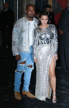 """Kim Kardashian Photos Photos - Kanye West (L) and Kim Kardashian attend the afterparty for """"Manus x Machina: Fashion In An Age Of Technology"""" Costume Institute Gala at The Gilded Lily on May 2, 2016 in New York City. - 'Manus x Machina: Fashion in an Age of Technology' Costume Institute Gala - After Parties"""