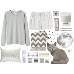 """Sleepy (gris)"" by m-aria on Polyvore"