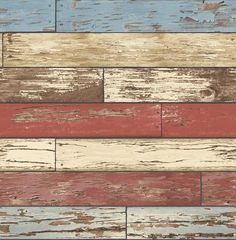Brewster Reclaimed Scrap Wood Red Weathered Texture 2701-22319