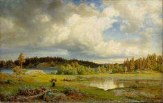 Holmberg, Werner Landscape from Kuru in Morning Light 1858