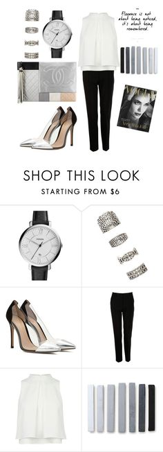 """""""Untitled #286"""" by mayer-fruzsina ❤ liked on Polyvore featuring Chanel, FOSSIL, Forever 21, Gianvito Rossi and Dolce&Gabbana"""