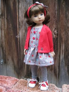 CHARMING RED made to fit 13 Little Darling by darladelight