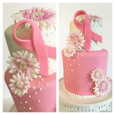 Breast cancer awareness cake. The Flour Basket