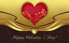 3d abstract wide happy valentines day HD wallpaper Wallpaper