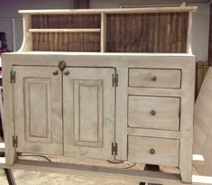 Sideboard Buffet Country Shabby Chic by RedBudPrimitives on Etsy, $429.00