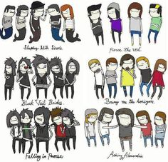 BVB, SWS, pierce the veil, Asking alexandria, Bring me the horizion and falling in reverse